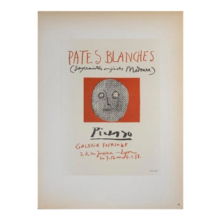 """Pablo Picasso Pates Blanches II 12.5"""" X 9.25"""" Lithograph 1959 Cubism Brown For Sale"""