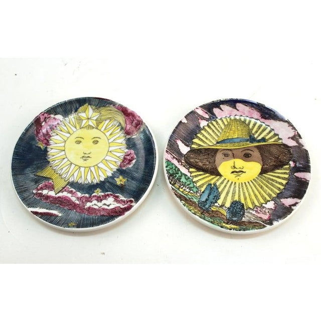 """1960s Fornasetti """"Soli E Lune"""" Porcelain Coasters With Original Box - Set of 6 For Sale In New York - Image 6 of 10"""