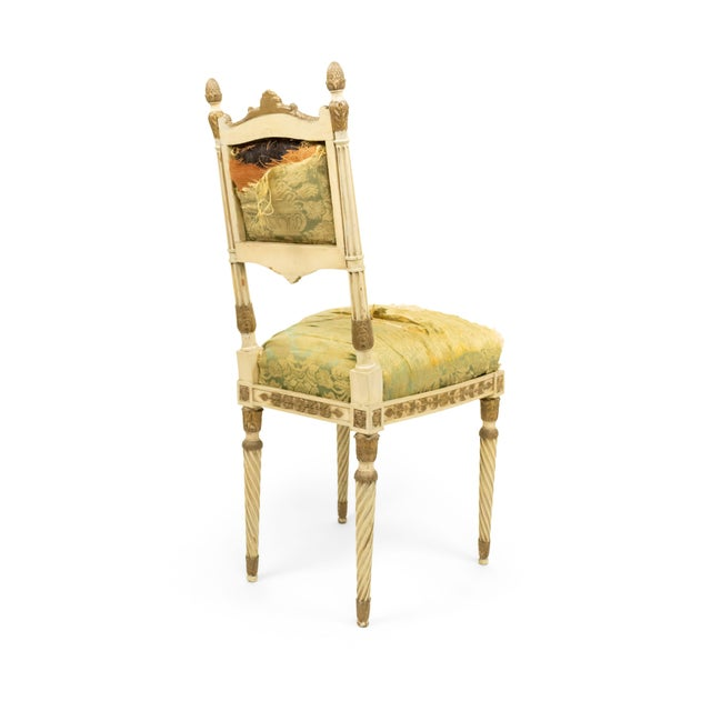 Italian Neoclassic Silk Upholstery Chairs For Sale - Image 10 of 11