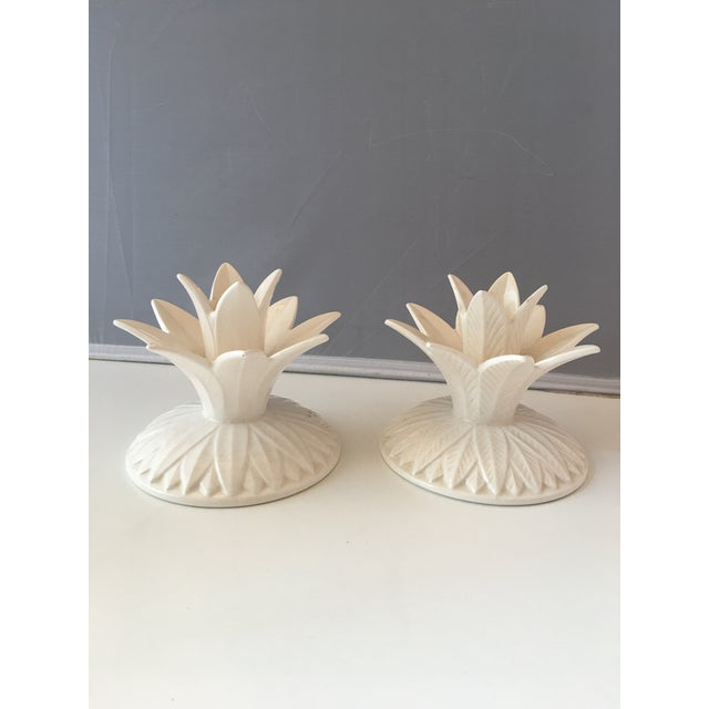 Fitz & Floyd Palm Candleholders - A Pair - Image 2 of 5