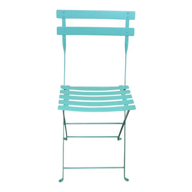 Fermob Bistro Lagoon Blue Chair For Sale