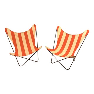 Vintage Restored Butterfly Chairs - a Pair For Sale