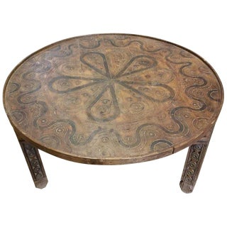 Vintage Used Moroccan Coffee Tables Chairish - Moroccan outdoor coffee table
