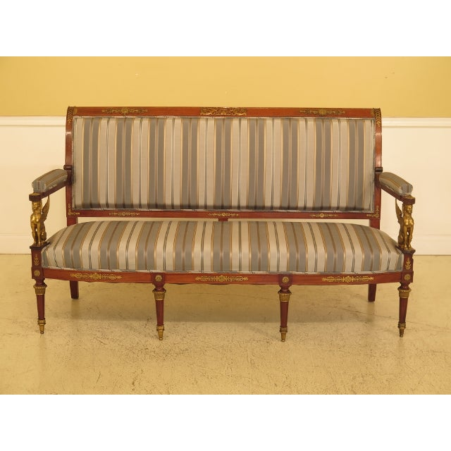 Traditional French Empire Bronze Winged Phoenix Sofa For Sale - Image 13 of 13
