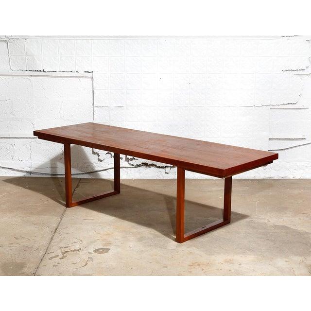 adjustable modernist teak coffee table chairish. Black Bedroom Furniture Sets. Home Design Ideas