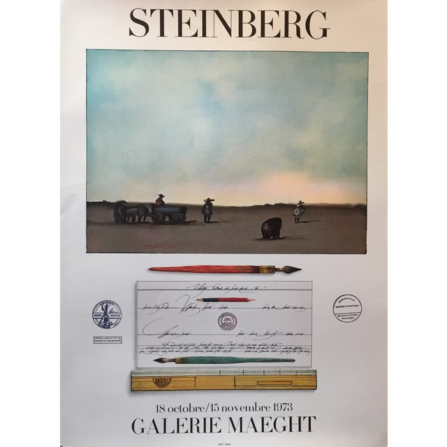 1973 Original Maeght Steinberg Poster - Image 1 of 4