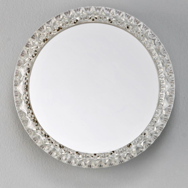 Mid century small round light up wall mirror chairish mid century small round light up wall mirror image 2 of 3 aloadofball Images