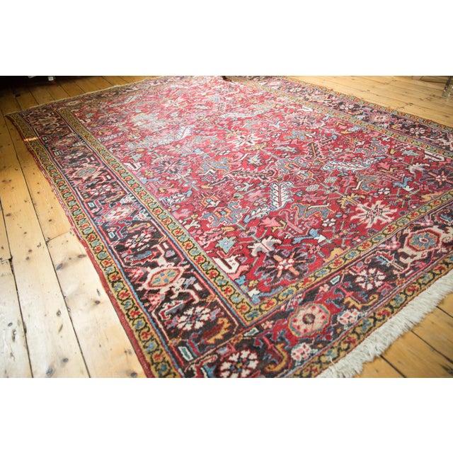 "Textile Vintage Heriz Carpet- 7'6"" X 10' For Sale - Image 7 of 12"