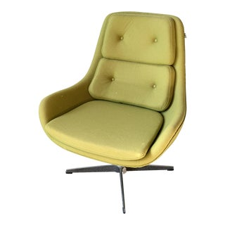 Early 21st Century Vintage Upholstered Swivel Chair For Sale