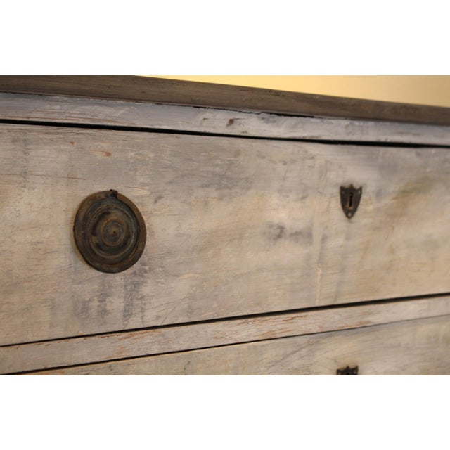 Swedish Style Painted Pine Chest of Drawers For Sale - Image 5 of 7