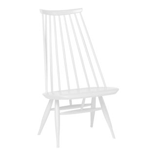 Mademoiselle Lounge Chair in White by Ilmari Tapiovaara & Artek For Sale