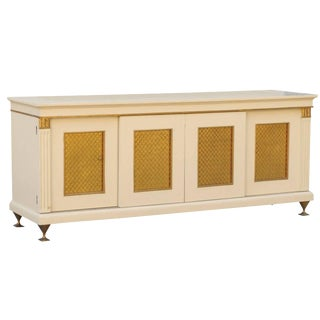 Spectacular Restored Buffet or Credenza in Cream by Renzo Rutili, Circa 1960 For Sale