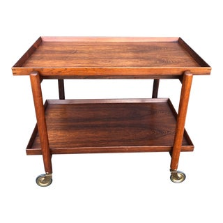Rosewood Bar Cart by Poul Hundevad For Sale