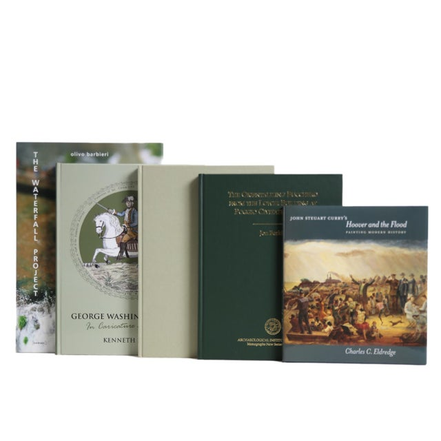 Modern Boxwood ColorStak, S/5. Features a blend of five authentic hardback books published 1990-Present all displayed in a...