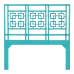 Palm Springs Headboard Queen - Turquoise