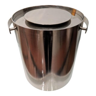 Danish Modern Arne Jacobsen for Stelton Stainless Steel Ice Bucket For Sale