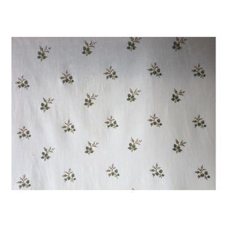 Cowtan and Tout Embroidered Sprig Fabric - 8-3/4 Yards For Sale