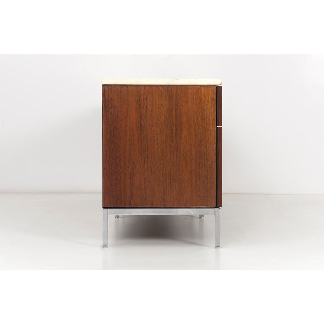 1970s Florence Knoll Marble Top Credenza For Sale - Image 5 of 10