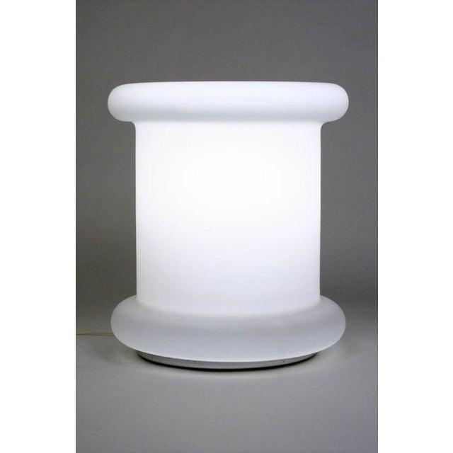 Italian Koch + Lowy 'Tablette' White Satin Triplex Glass Lamp For Sale - Image 3 of 6