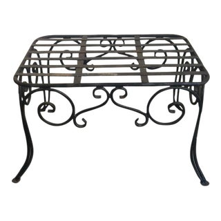 Vintage Wrought Iron Coffee Table Bench For Sale