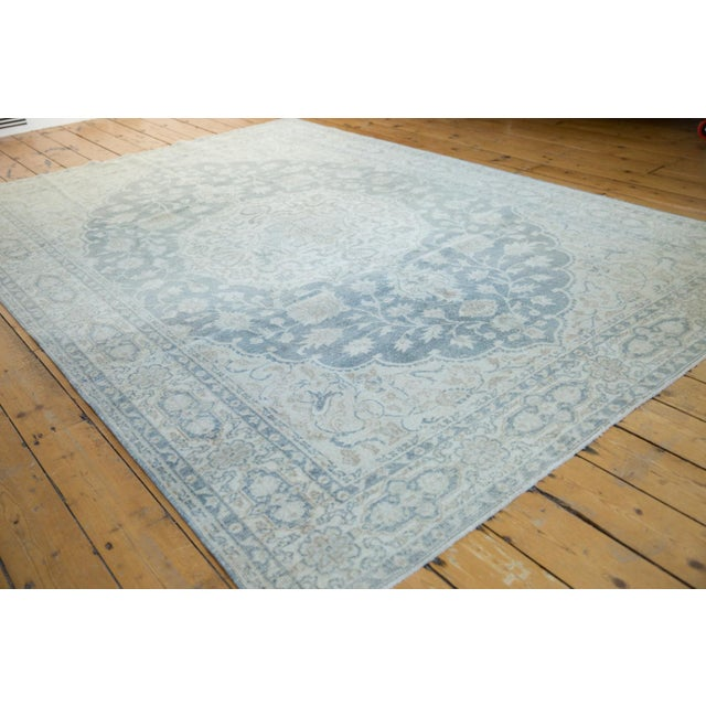 """Vintage Distressed Oushak Carpet - 6'6"""" X 9'7"""" For Sale In New York - Image 6 of 13"""