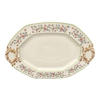 Antique J. Pouyat, Limoges France Porcelain Platter Wright-Tynedale-VanRoden Import C. 1908 For Sale