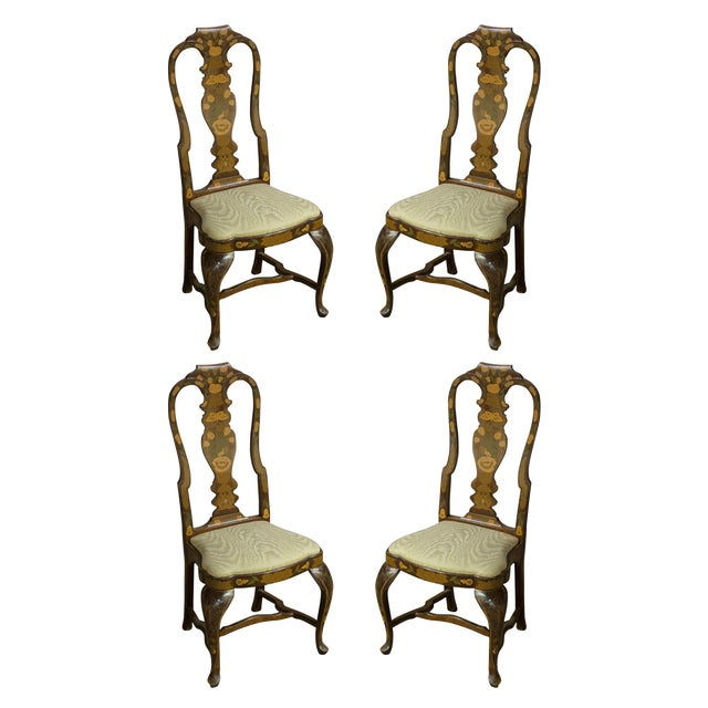 Vintage Sarreid LTD Queen Anne Side Chairs - Set of 4 - Image 1 of 3