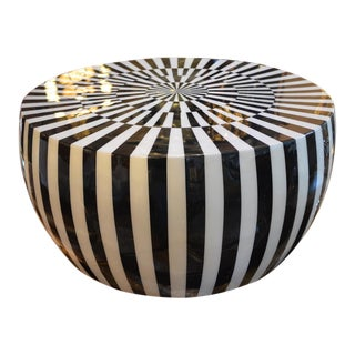 Modern Made Goods Janson Black and White Coffee Table For Sale