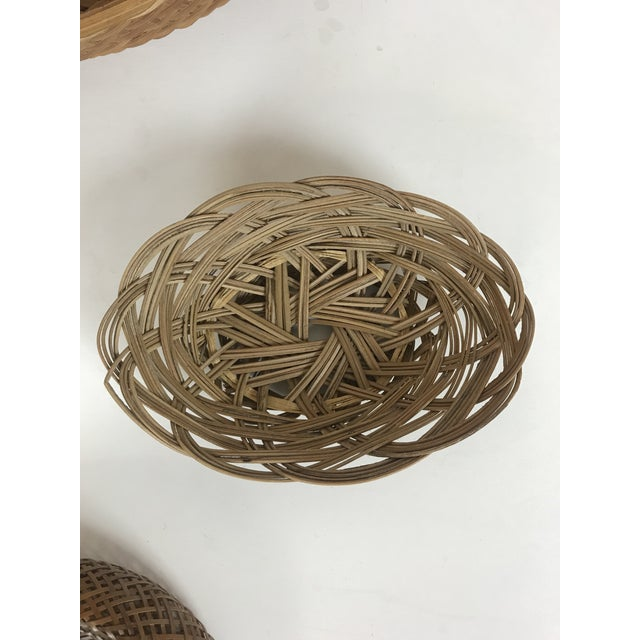 Wicker Wall Hanging Baskets - Set of 5 For Sale - Image 4 of 8