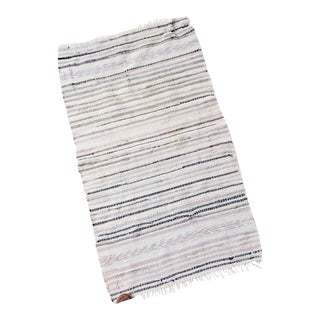 Vintage Striped Rag Rug For Sale