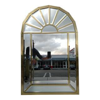 Vintage Mastercraft Arch Top Brass Beveled Mirror