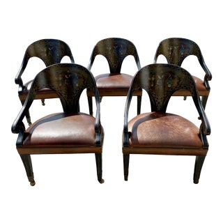 Regency Spoon Back Chairs in Style of Micheal Taylor For Sale