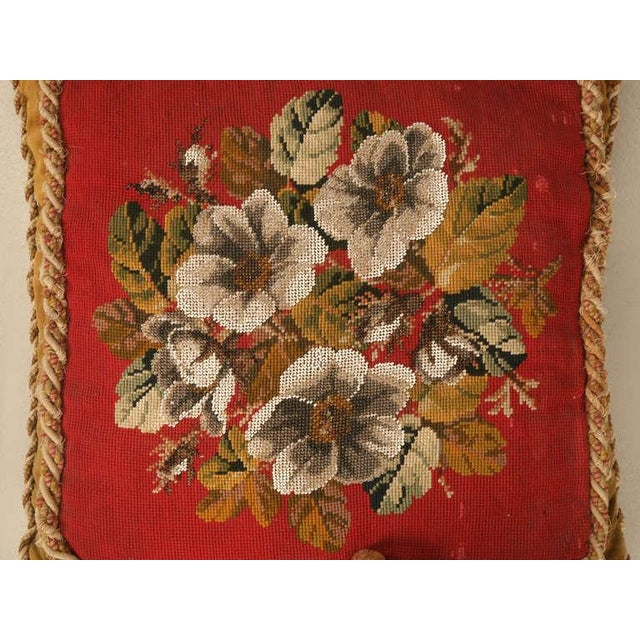 Circa 1900 Victorian English Beaded and Needlepoint Pillow For Sale - Image 11 of 11