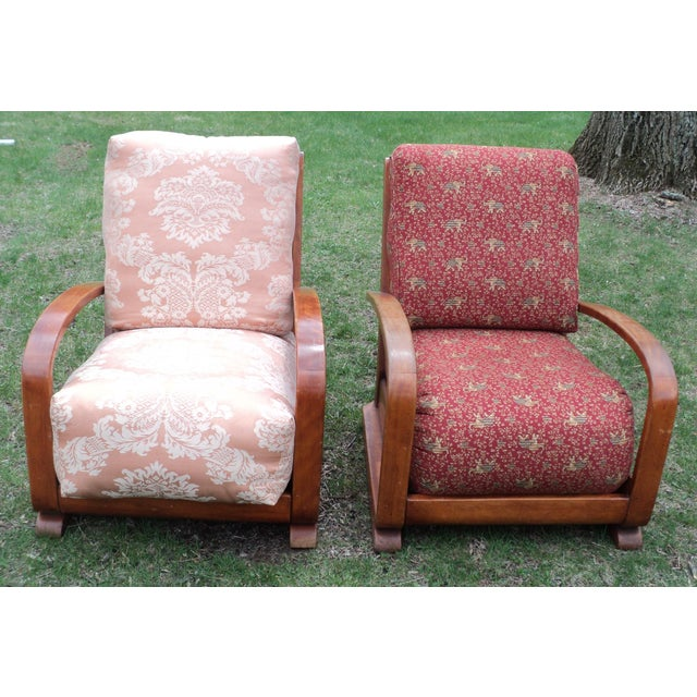 Mid-Century Club Chairs - A Pair - Image 2 of 11