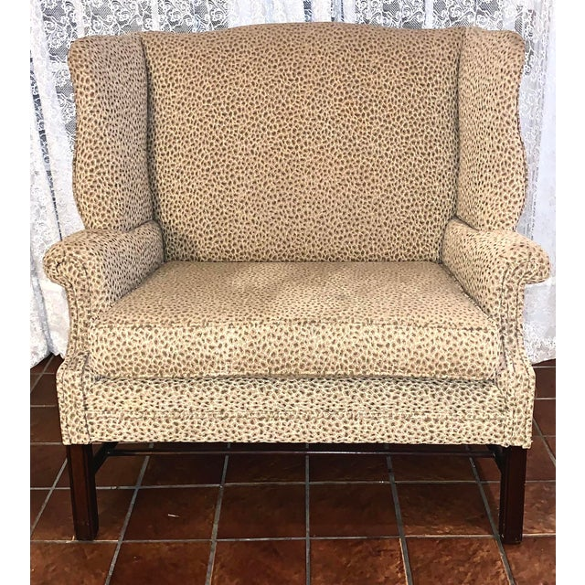 Wood 19th Century Antique Winged High-Back Settee For Sale - Image 7 of 7
