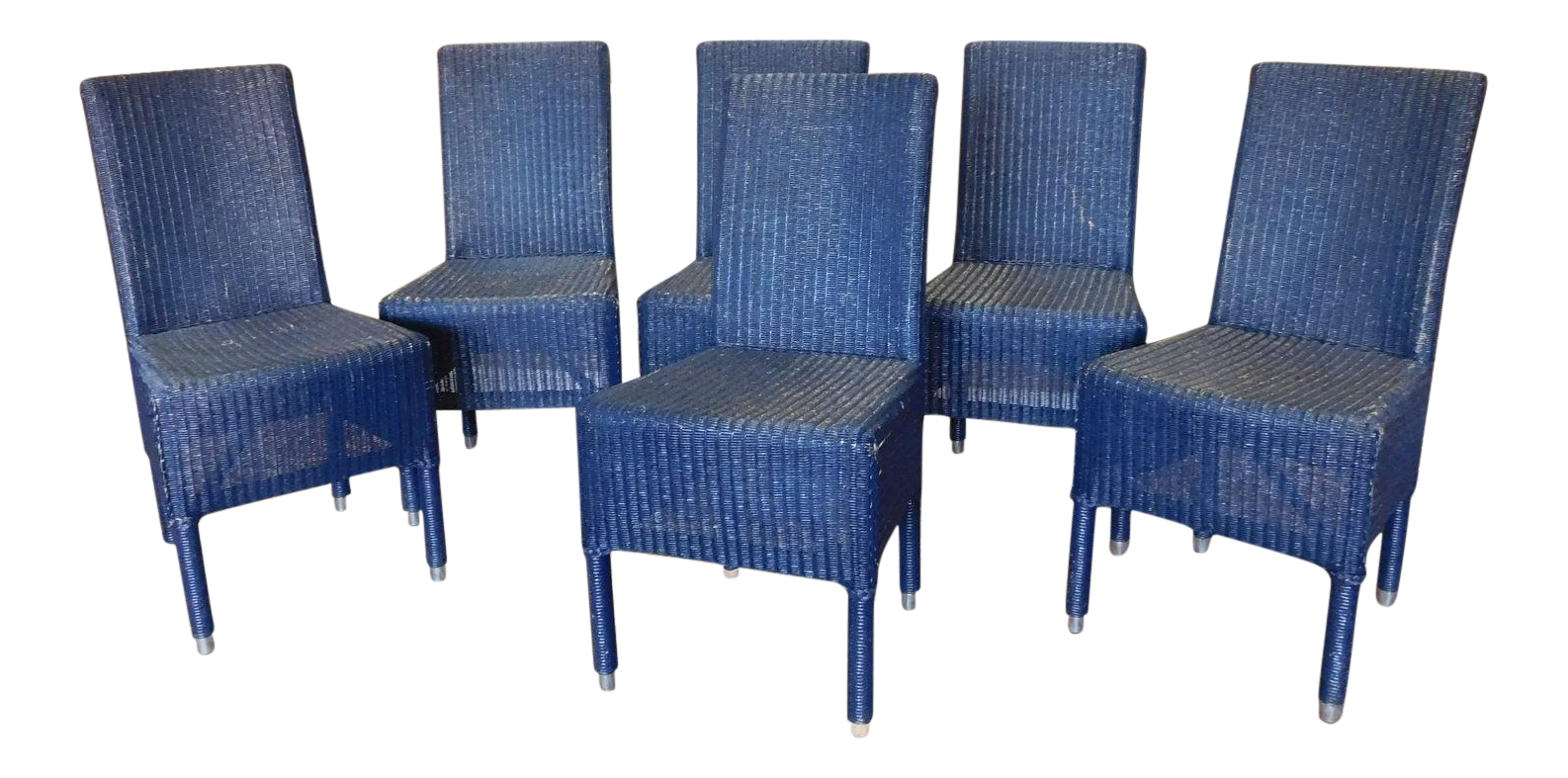 Blue Janus Et Cie Deauville II Outdoor Wicker Dining Room Side Chairs   Set  Of 6