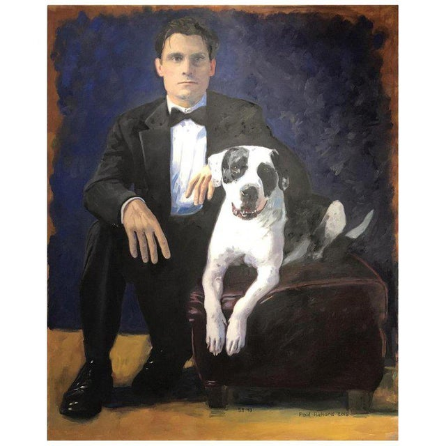 "2010s ""Paul and Ranger,"" Oil on Canvas by Paul Richard For Sale - Image 5 of 5"