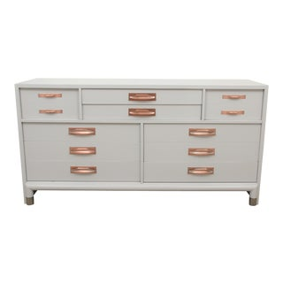 Midcentury White Copper Dresser