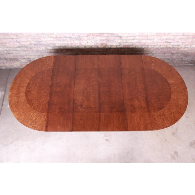 1950s Harold Schwartz for Romweber Mid-Century Modern Spider Leg Extension Dining Table, Newly Restored For Sale - Image 5 of 13
