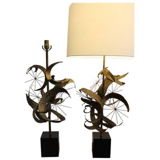 Pair of Brutalist Lamps by Laurel Lamp Mfg. Co For Sale