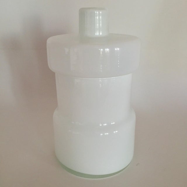 Scandinavian Art Glass Canister - Image 3 of 7