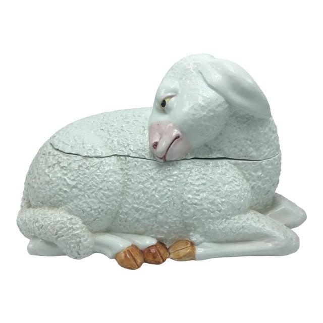 Vintage Ceramic Lamb Tureen For Sale