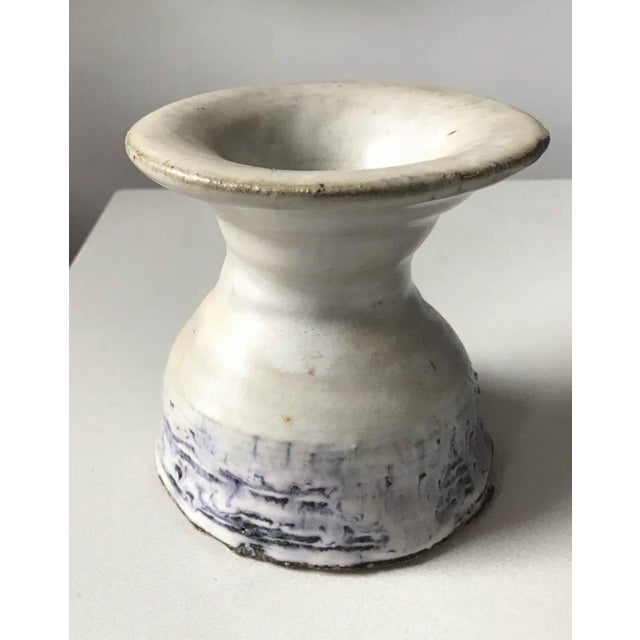 Vintage Hand Thrown Pottery Vase For Sale - Image 4 of 9