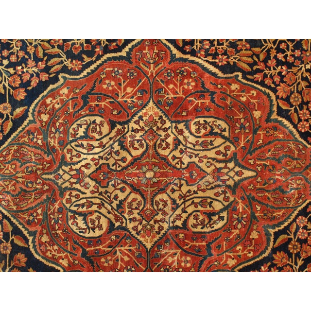 Late 19th Century Antique Persian Sarouk Farahan Rug - 8′5″ × 12′4″ For Sale - Image 4 of 6