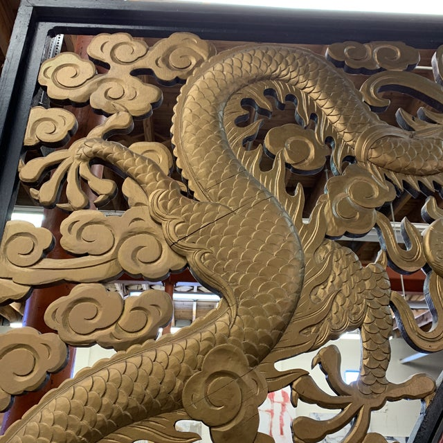 Room Size Wood Carved Chinese Moon Gate For Sale - Image 11 of 13