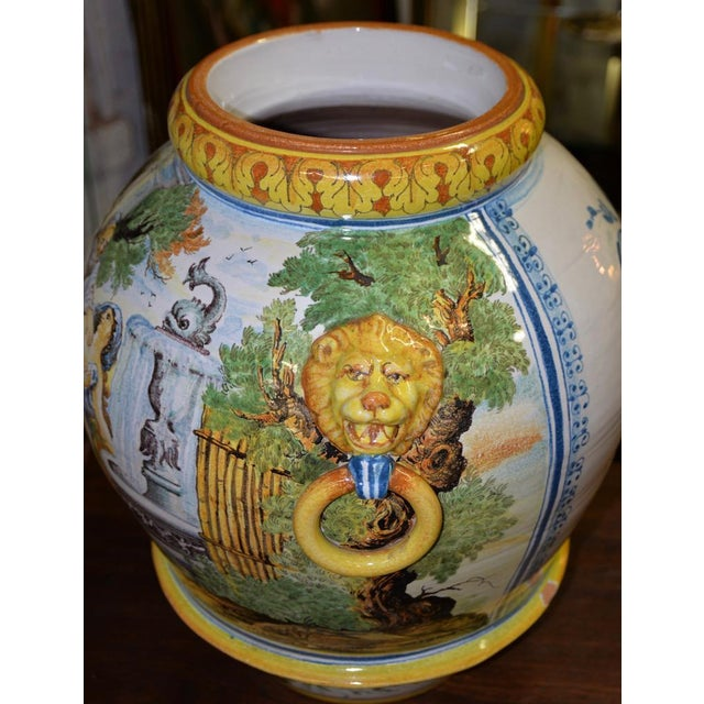 Mid 20th Century Mid 20th Century Hand Painted Portuguese Jardiniere C.1950 For Sale - Image 5 of 10