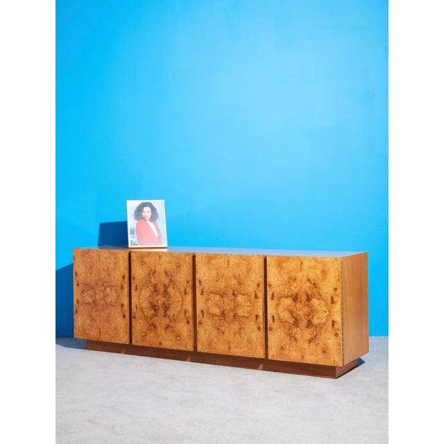 Lane Furniture 1970s Olive Burl Wood Credenza by Roland Carter for Lane For Sale - Image 4 of 5