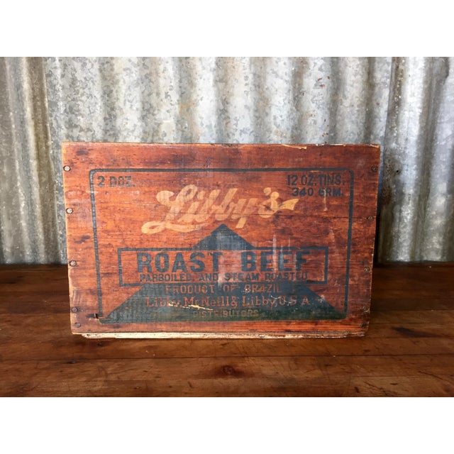 Vintage Libby's Roast Beef Wood Crate - Image 2 of 10