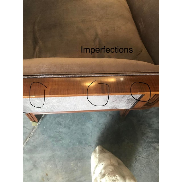 1950s Mid-Century Modern James Mont Style Walnut Sofa For Sale - Image 9 of 10