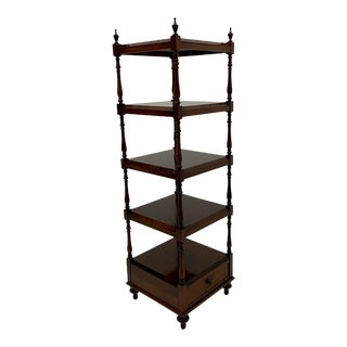 English Regency Style Rosewood Etagere Bookshelf Shelves For Sale